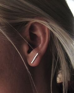 Sterling Silver Beaded Texture Post Earrings by SDMarieJewelry, $25.00