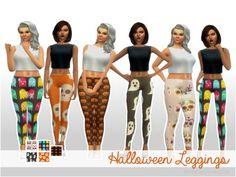 Halloween Leggings by Bliythe at TSR via Sims 4 Updates