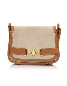 c403537bddfe View this item and discover similar shoulder bags for sale at - Beautiful  handbag by Hermes with beige linen body