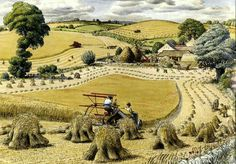 S. R. Badmin - English harvest scene