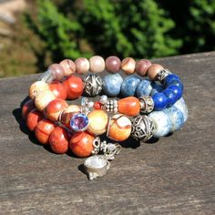 Philippines Coral and Bali Silver Memory Wire by BlooMoonJewelry