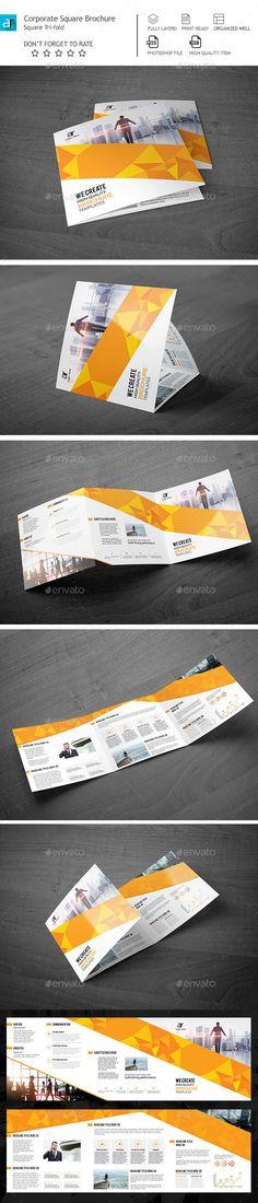 Corporate Tri-Fold Square Brochure Template PSD #design Download: http://graphicriver.net/item/corporate-trifold-square-brochure-/14154613?ref=ksioks