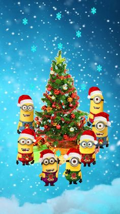 Minions Christmas wallpaper by - - Free on ZEDGE™ Christmas Eve Meme, Minion Christmas, Best Christmas Presents, Christmas Mugs, Disney Christmas, Christmas Wishes, Kids Christmas, Merry Christmas, Funny Christmas Wallpaper