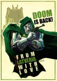 From Latveria With Love - Dr Doom / James Bond mash-up comic book genres Marvel Comic Books, Comic Book Characters, Comic Character, Comic Books Art, Comic Art, Book Art, Dr Doom Marvel, Marvel Dc, Captain Marvel