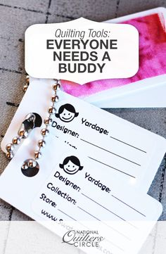 Everyone Needs a Buddy   National Quilters Circle