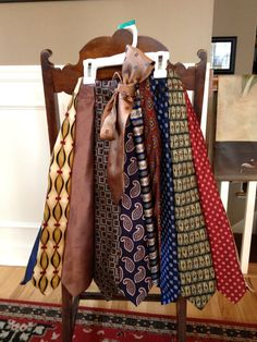 womens skirt made from mens old neck ties by 2inarow on Etsy, $75.00