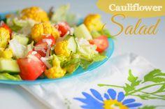 Salat mit Blumenkohl und Parmesan mit einer Arganöl-Passionsfrucht-Vinaigrette   #salad #recipe #caulifower #healthy #lowcarb