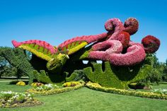 "The Montreal Mosaiculture Exhibition will blow your mind.  Mosaiculture ""is a refined horticultural art that involves creating and mounting living artworks made primarily from plants with colourful foliage (generally annuals, and occasionally perennials)"""