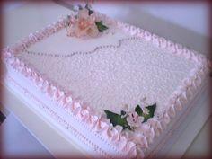 Nutella Birthday Cake, Buttercream Birthday Cake, Cake Icing, Pastel Rectangular, Birthday Greetings, Happy Birthday, Sheet Cake Designs, Mom Cake, Blue Cakes