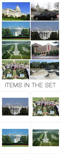 """""""On Their Last Day in DC They Would Catch the Remaining Sights With a 3 Hour Private Limo Tour to Wherever They Wished…the Capitol, the White House, the WWII Memorial, FBI Headquarters, the Smithsonian Castle, & Finally, a Skateboard Park, for Nicolas"""" by maggie-johnston ❤ liked on Polyvore featuring art"""