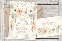 Pastel dreamcatcher invitation 17. Wedding Card Templates