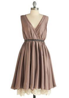 Bridesmaids // Silky with lace, just the right mix of elegant and rustic. Shape would be universally flattering as well