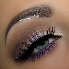 DEETS: @motivescosmetics Purple Valentine: Eye Base, Cappuccino & Vino in the Crease, Creme Fresh, Aphrodite & Dollface on the lid, Amethyst Khol Eyeliner on the waterline, Fantasy along the lower lash line. Highlighted with a mix of Blizzard and Liquid. Gel Eyeliner Little Black Dress Lashes are Remy Natural #138 For the brows I have used @anastasiabeverlyhills Dipbrow Pomade in Ebony! Xoxo Janine - @theamazingworldofj- #webstagram