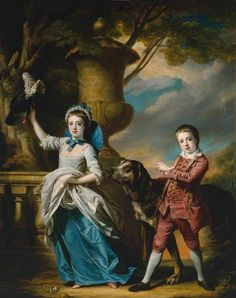 Anna Maria Astley, Aged Seven, and her Brother Edward, Aged Five and a Half  by Francis Cotes       Date painted: 1767