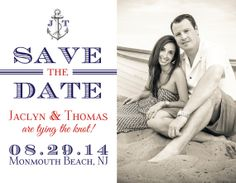 SAVE THE DATE  Magnet or Postcard  Nautical by BoardwalkBridal, $1.95  Nautical Wedding, Navy and Red Wedding, Nautical Save the Date, Nautical STD, Navy and Cream Wedding, Anchor Save the Date, Save the Date Magnets   #boardwalkbridal Wedding Navy, Cream Wedding, Nautical Wedding, Save The Date Invitations, Invitation Ideas, Wedding Invitations, Monmouth Beach, Save The Date Inspiration, Envelope Printing