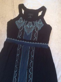 Athleta Maxi Dress Small Womens Blue Black Paisley Pattern Summer Sundress