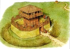 A Roman watchtower garrisoned by just a tent group of ten men out on the frontier watching for enemies of Rome.