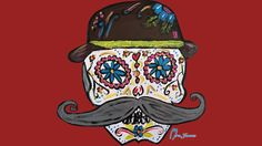 Doc Holiday Sugar Skull is a T Shirt designed by messeduplife to illustrate your life and is available at Design By Humans