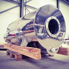TIO yacht exhaust systems - mirrorplate cladding on the dry exhaust silencers thermal insulation