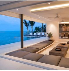 Luxury Outdoor Living Beautiful Beach Houses, Beautiful Homes, Beautiful Beautiful, Beautiful Beach Pictures, Beautiful Places, Future House, Architecture Design, Contemporary Architecture, Patio Heater