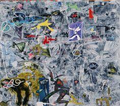 """180x200cm. acrylic in canvas """"Con titolo"""",2008"""