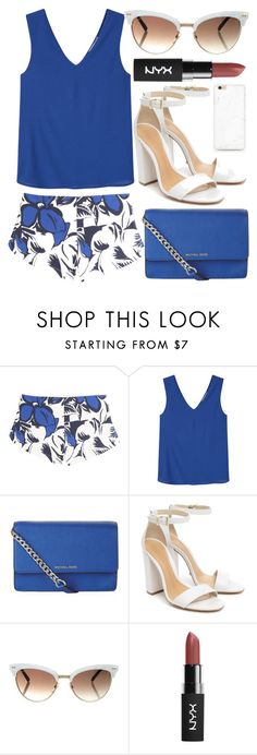 """""""All Fun And Games"""" by egordon2 ❤ liked on Polyvore featuring Vanessa Bruno, MANGO, MICHAEL Michael Kors, Schutz, Gucci, Blue, BlueOutfit, blueset, blueoutfits and bluesets"""