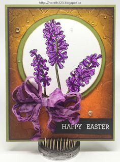 Linda Vich Creates: Watercolor Markers, Distress Inks, and Easter. A card that incorporates distress inks, Zig Clean Color real Brush Markers as well as Stampin Up Products to produce this lovely Easter card.