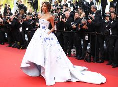 Jourdan Dunn wearing this gorgeous dress by Ralph&Russo in #Cannes!