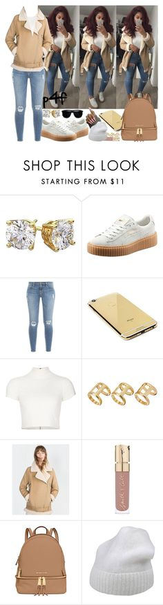"""""""Passion 4Fashion: I Can't Take You Seriously"""" by shygurl1 ❤ liked on Polyvore featuring Diamondsy, Puma, Frame Denim, Goldgenie, Alice + Olivia, ASOS, Zara, Smith & Cult, MICHAEL Michael Kors and Forte Forte"""