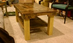 Pallet wood table Brian made for me. cost 5$ total!