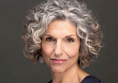 10 Best Hairstyles for Women Over 50 - Wass Sell - Women over 50 with white silver grey hair - Grey Curly Hair, Silver Grey Hair, Short Grey Hair, Curly Hair Cuts, Long Wavy Hair, Blonde Curly Bob, Hairstyles Over 50, Curly Bob Hairstyles, Cool Hairstyles