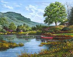"""beautiful painting - """"Renewed Spirits"""" William Mangum, NC's artist"""