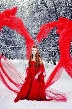 Red is my love by Mitoka.deviantart.com Photograph: Polina Isaeva  Make-up: Tatyana Pogosyan  Model: Mitoka