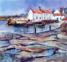 Landscape watercolour paintings