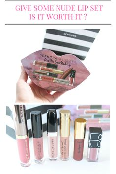 Read Full review and see the swatches and try on of all the lipsticks included in the sephora favorites give me some nude lip set