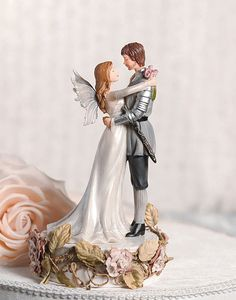 how cute!!! the prince even has facial hair like Mike! :-)Paper Roses Fantasy Fairy Wedding Cake by weddingcollectibles, $48.95