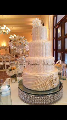 Karen Padilla Original  Cake Design for a very special bride! Luxury Wedding Cakes by Lourdes Padilla