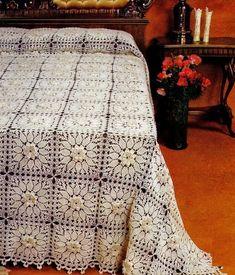 18 muestras de colchas tejidas a crochet ⋆ Manualidades Y DIYManualidades Y DIY Crochet Granny, Crochet Motif, Afghan Blanket, Bed Spreads, Plaid, Deco, Bedroom, Knitting, Creative
