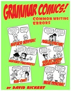 A set of comics and activities that address the common errors students make in their writing.