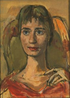 Marie-Louise von Motesiczky (Austria 1906-1996 England), Portrait of a Woman in Red. Collection Marie-Louise von Motesiczky Charitable Trust.