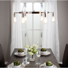 Illuminate your room in style with this attractive light. This lighting fixture features an interesting look in a great finish.