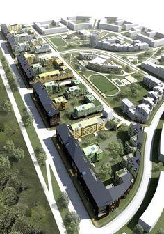 Центральный поселок инвестиционного проекта «Константиново» (1 очередь) © ГрандПроектСити / Архитектурное бюро Асадова