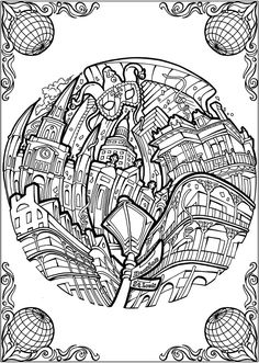 BLISS CITIES Coloring Book Your Passport To Calm By David Bodo