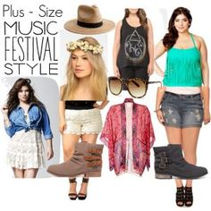 All the combination you can try for music festival. Plus size boho fashion outfits.