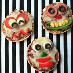 Monster Mini Pizzas #Birthday #Halloween