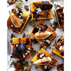 Weekend baking idea... Balsamic Fig and Lemon Cheesecake with Walnut Crust, Candied Walnuts and…