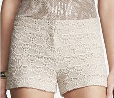 Crochet shorts Express shorts, buckles in front. Very comfy Express Shorts Crochet Shorts, Crochet Lace, Lace Shorts, Men's Shorts, Short Shorts, Love Fashion, Fashion Outfits, Classy And Fabulous, Dress To Impress