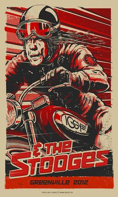 Iggy & the Stooges gig poster by Lars P Krause
