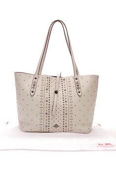 f2fa389cf74e Coach Bandana Rivets Market Tote Bag - Ivory Beautiful Handbags