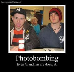 Grandma Funny Photobombing